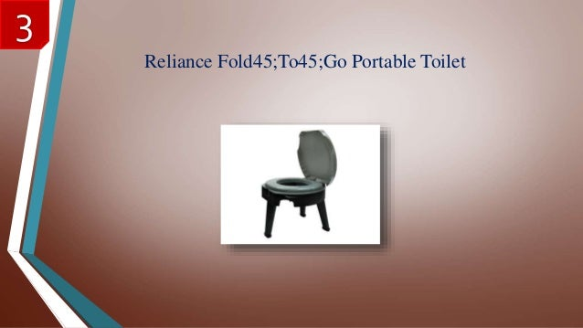 Great Reliance Fold45;To45;Go Portable Toilet 3 ...