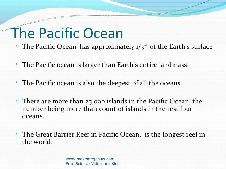 Best Ppt On Ocean Facts - Number of oceans