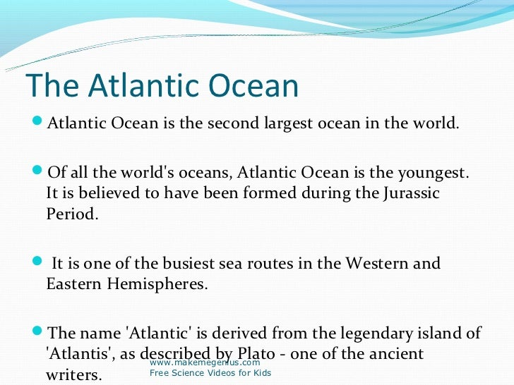 Best Ppt On Ocean Facts - Name the four oceans of the world