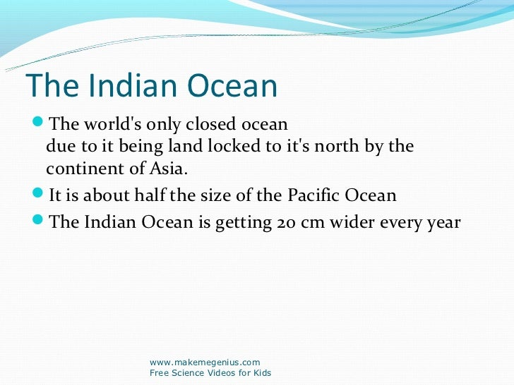 Kid Facts About Indian Ocean