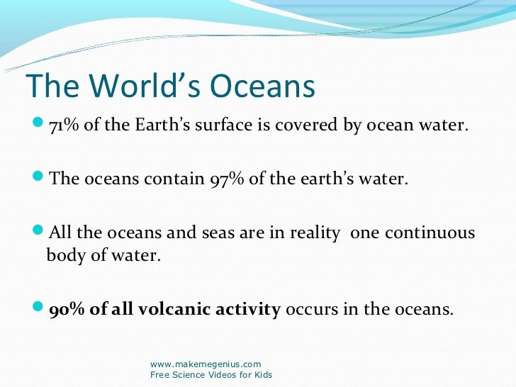 Best Ppt On Ocean Facts - All 5 oceans