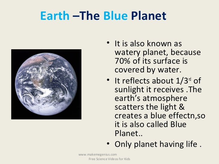 Earth the blue planet essay
