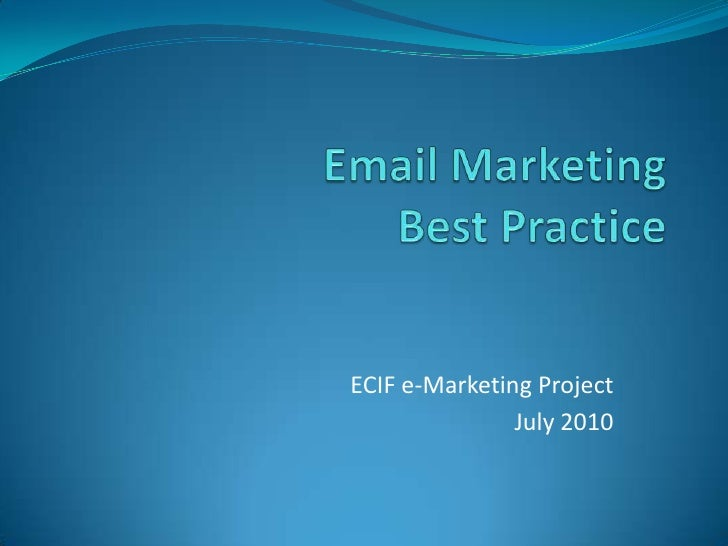 Email Marketing best practice