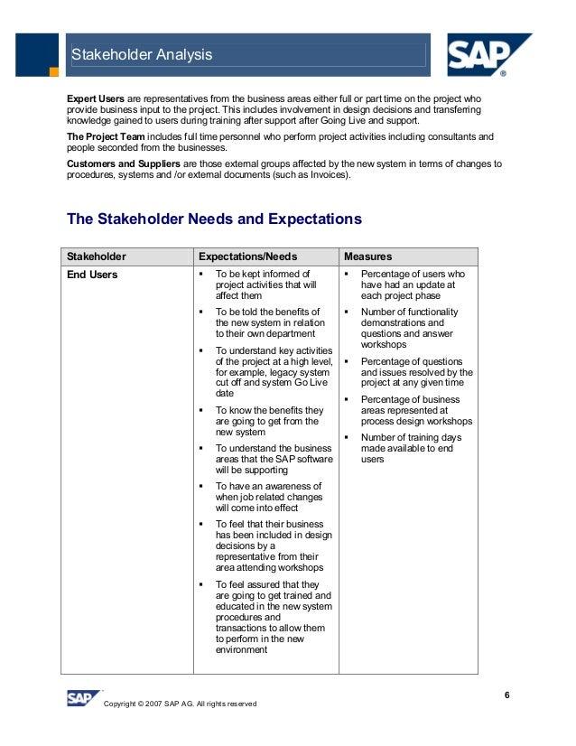Stakeholder Analysis Sample Creating Pathways for Positive Change – Stakeholder Analysis Sample