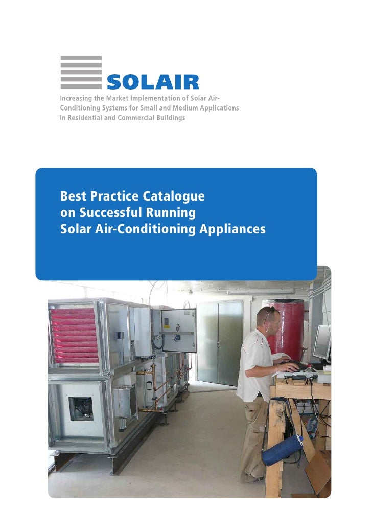 Best Practice Catalogueon Successful RunningSolar Air-Conditioning Appliances