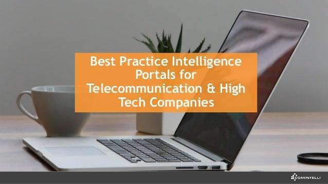 Best Practice Intelligence Portals for Telecommunication & High Tech Companies