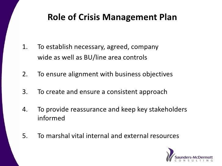 sample crisis management plan template - best practice crisis and issues management a recommended