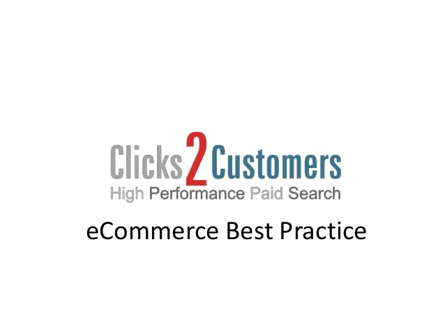 eCommerce Best Practice