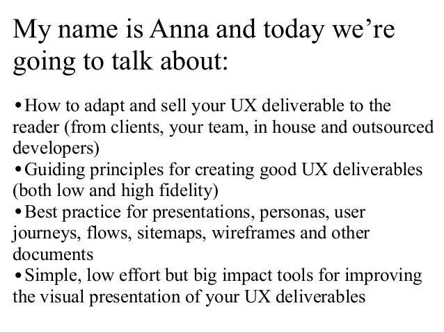 Best Practice For UX Deliverables - Eventhandler, London, 22 Oct 2013 Slide 2