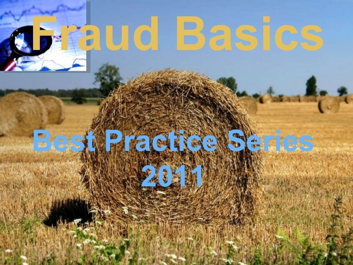 Fraud Basics   Best Practice Series 2011