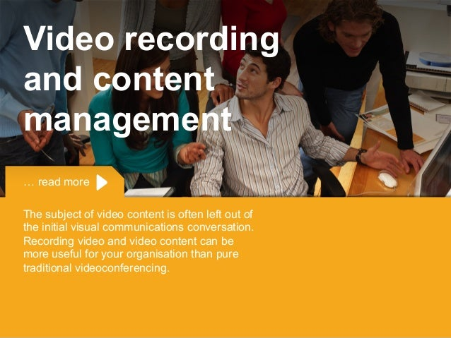 Copyright © 2015 Dimension Data … read more The subject of video content is often left out of the initial visual communica...