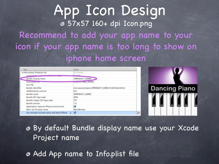 Home screen designer p list