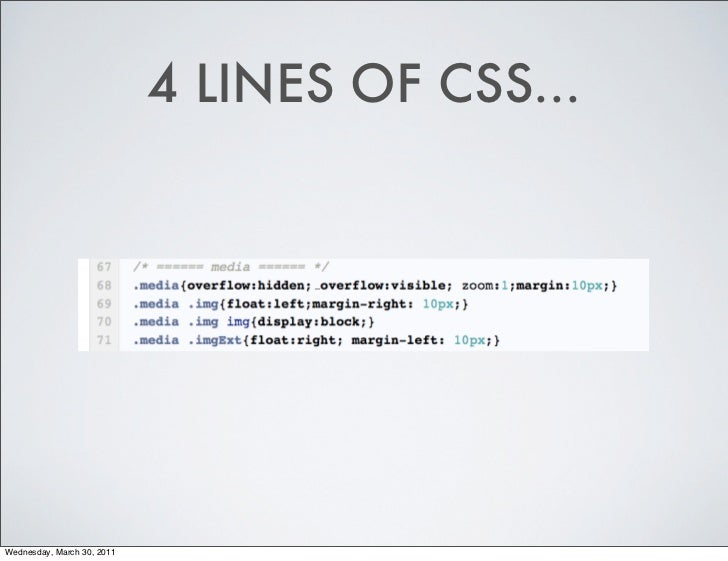4 LINES OF CSS    _Wednesday,