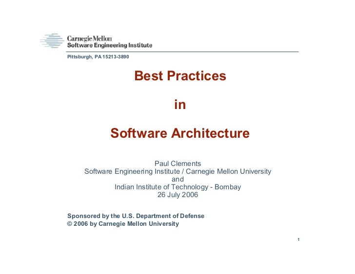 Pittsburgh, PA 15213-3890                            Best Practices                                  in                 So...
