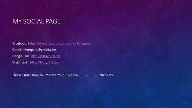 Promote Your Social Media Anytime Slide 3