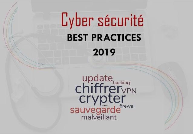 BEST PRACTICES 2019 Cyber sécurité