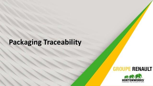 12 Packaging Traceability