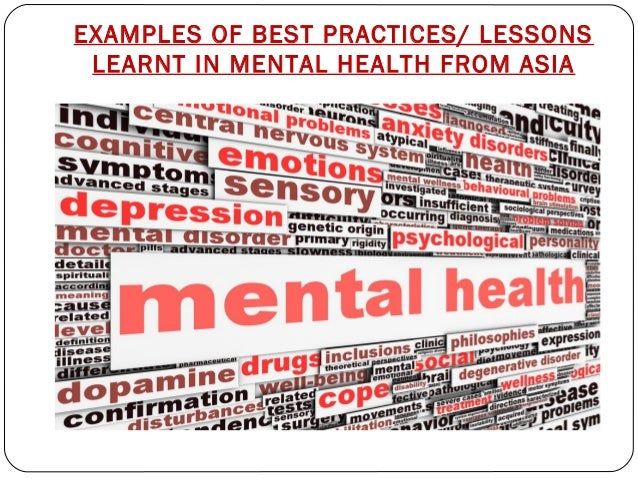 Best Practices Of Mental Health In Asia