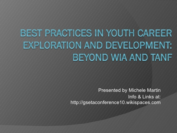 Presented by Michele Martin Info & Links at: http://gsetaconference10.wikispaces.com
