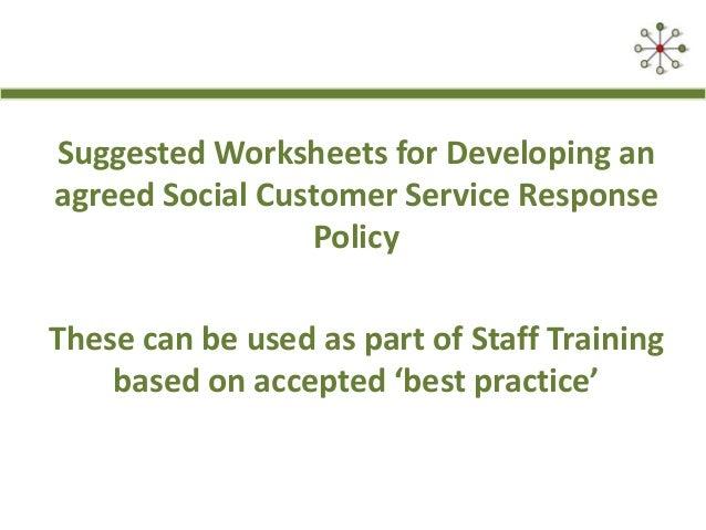 Best Practice Social Customer Service Response Guidelines – Customer Service Worksheets