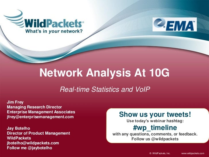 Network Analysis At 10G                         Real-time Statistics and VoIPJim FreyManaging Research DirectorEnterprise ...