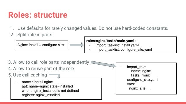 Best practices for ansible
