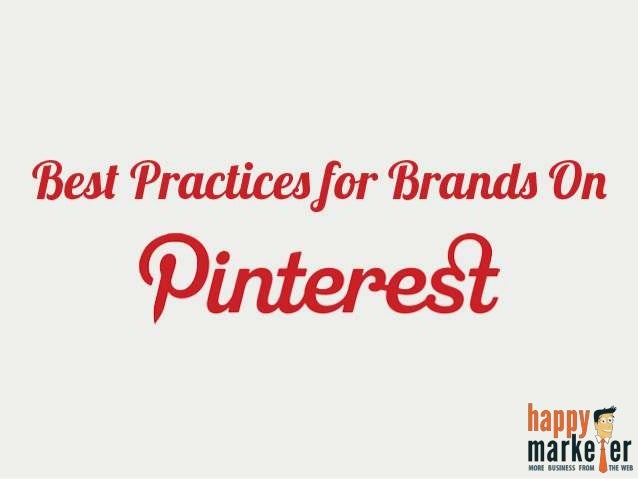 Best Practices for Brands on Pinterest