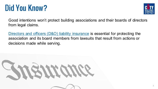 How to Protect Your Board of Directors  Slide 2