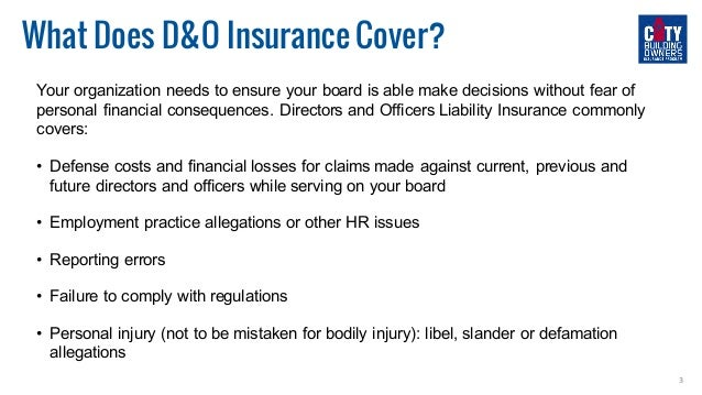 How to Protect Your Board of Directors  Slide 3