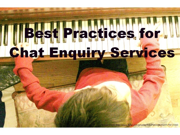 Best Practices for a Chat Enquiry Service