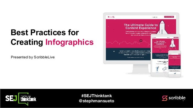 Best Practices for Creating Infographics #SEJThinktank @stephmansueto Presented by ScribbleLive