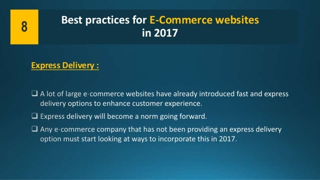 Best practices for e commerce websites in 2017 for E commerce websites