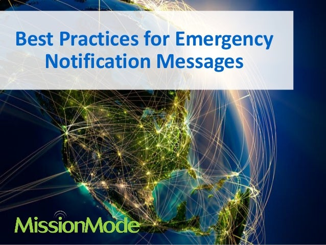 Best Practices for Emergency Notification Messages