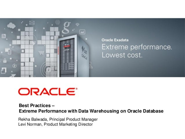 <Insert Picture Here>  Best Practices – Extreme Performance with Data Warehousing on Oracle Database  Rekha Balwada, Princ...