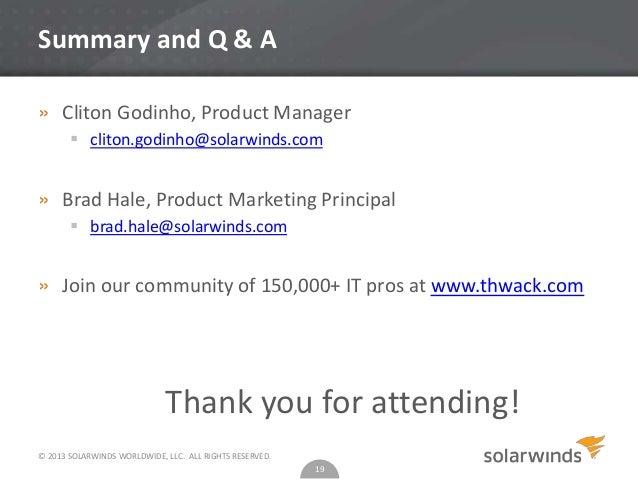 solarwinds engineering toolset
