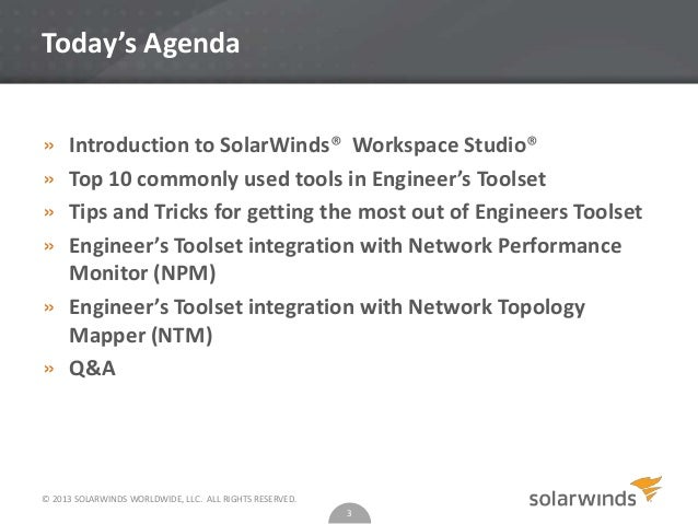 Best Practices for Getting the Most out of SolarWinds