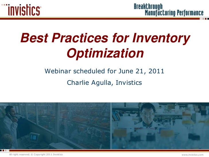 Best practices for inventory optimization by invistics ...