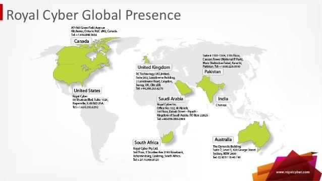 Royal Cyber Global Presence