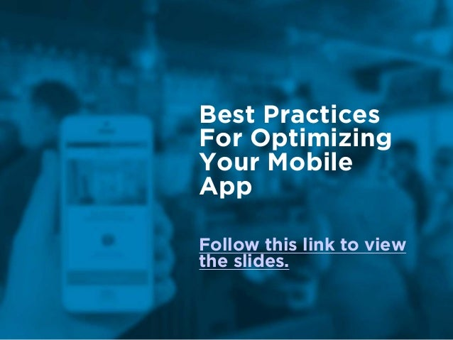 Best Practices For Optimizing 
