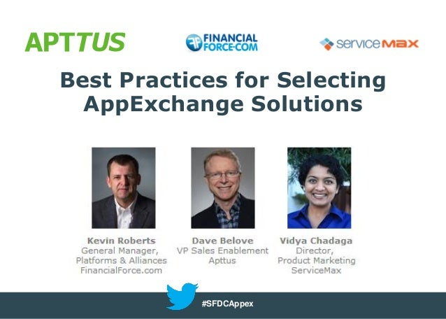 Best Practices for Selecting AppExchange Solutions  #SFDCAppex