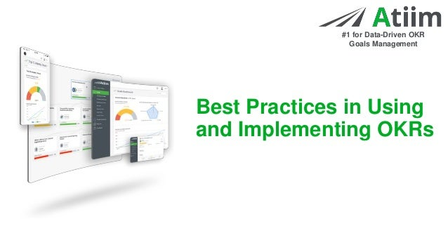 Best Practices in Using and Implementing OKRs Slide 2