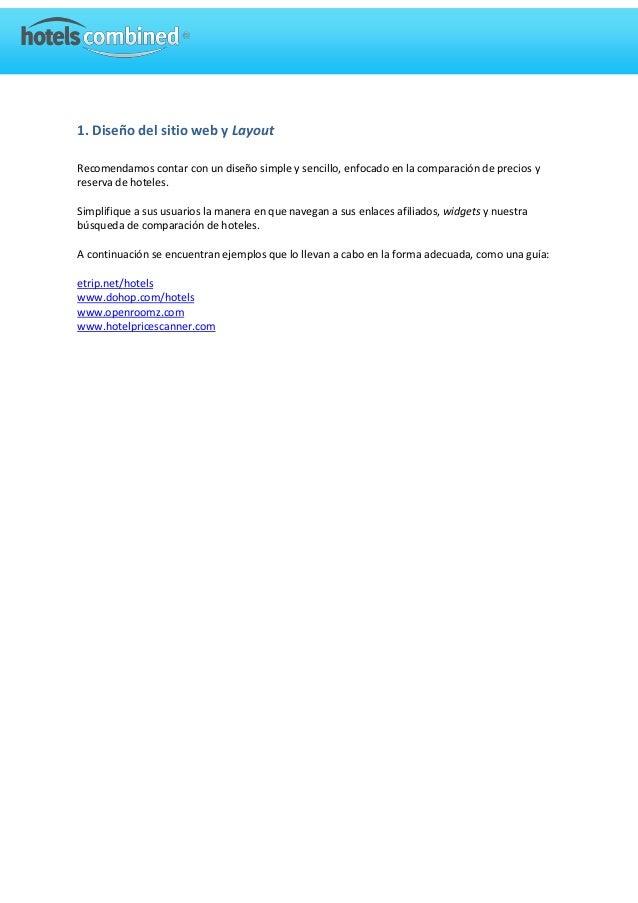 Consejos y practicas del programa de afiliados Hotelscombined.com Slide 2