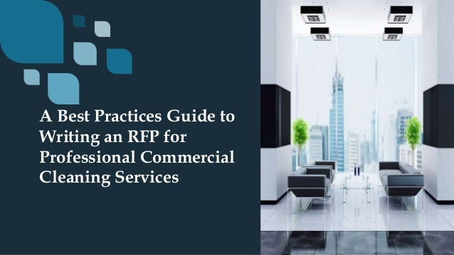 Best practices guide to writing an rfp for professional commercial cl