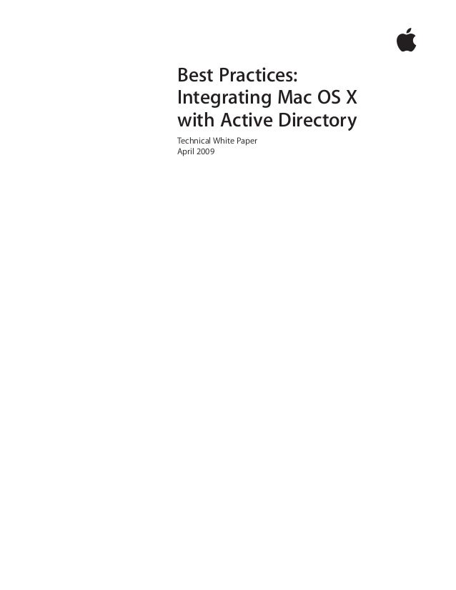 เอกสาร แนวทาง การอินติเกรท Mac OS X เข้ากับ ระบบ Active