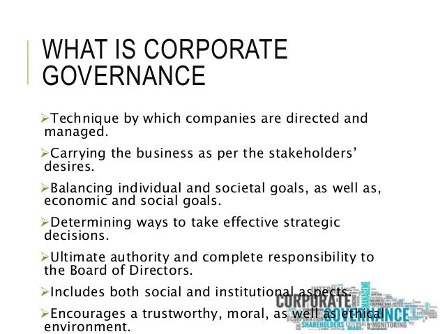 stewardship theory of corporate governance pdf