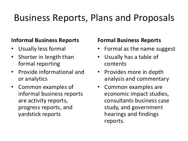 Business Reports, Plans And Proposals Informal ...  Informal Business Proposal