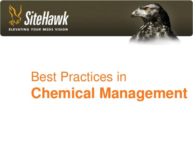 Best Practices in Chemical Management                      1