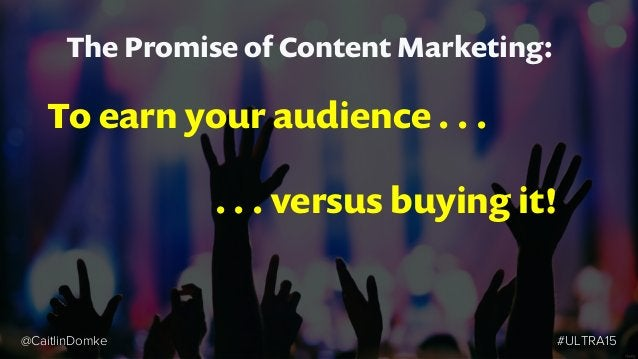Unique Point of View Trap Too easy to become consumed with your story, not your customers. #ULTRA15@CaitlinDomke