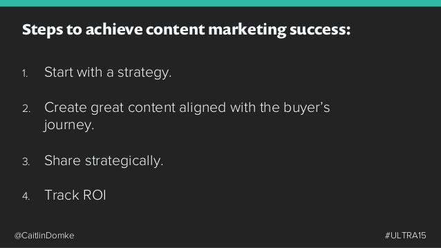 18 Determine and document your content strategy.