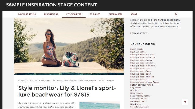 SAMPLE BOOKING STAGE CONTENT